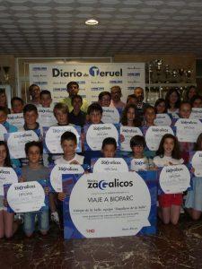Los alumnos de 5º de Primaria ganadores del concurso Diario de Zagalicos