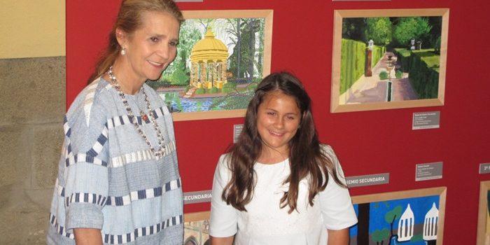 Irais Torres recibe el primer premio del Concurso de Pintura de Patrimonio Nacional