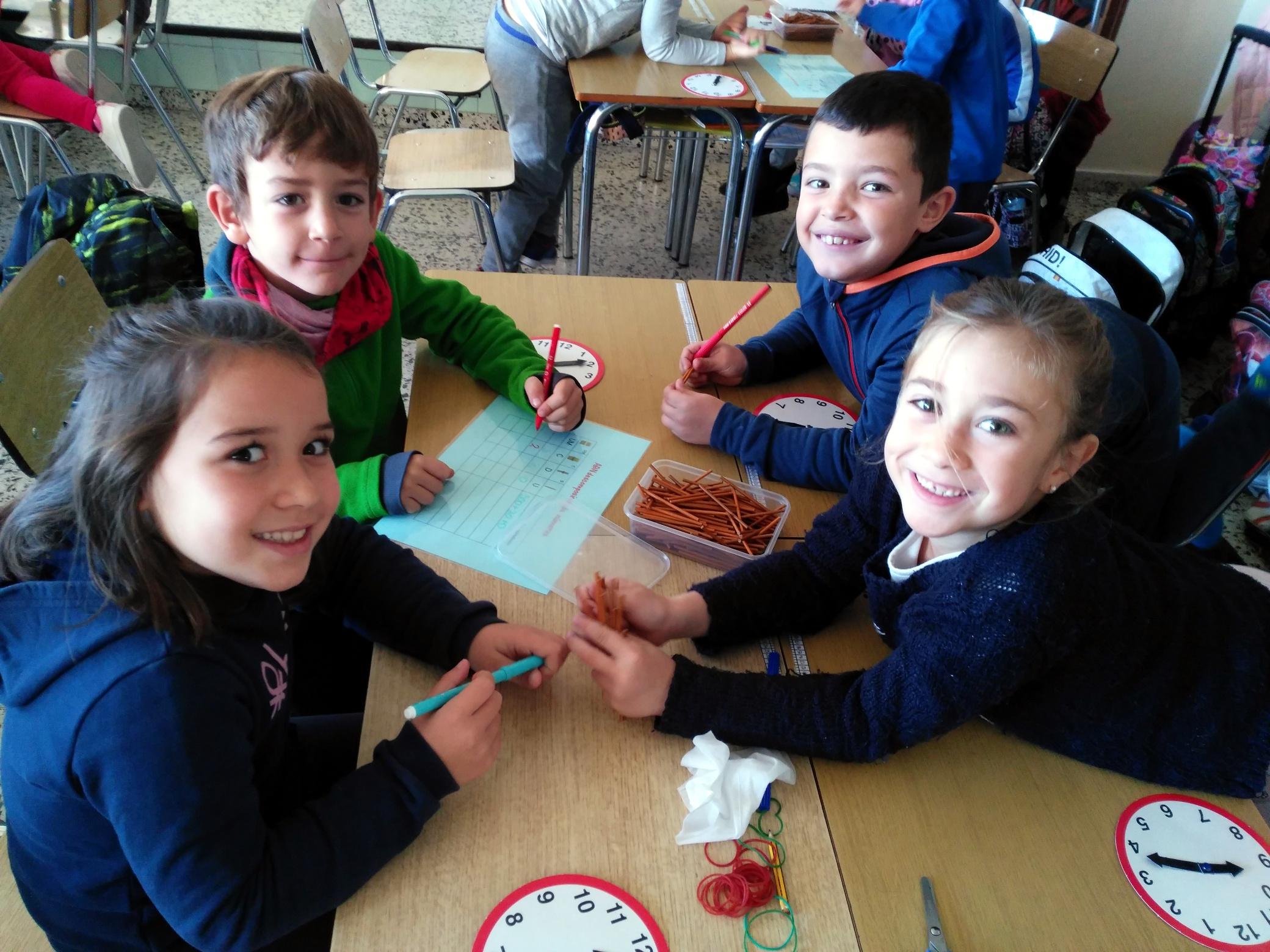 Los alumnos de Infantil y primeros cursos de Primaria aprenden matemáticas con el método ABN