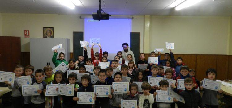 Los alumnos de robótica participaron en la Hora del Código