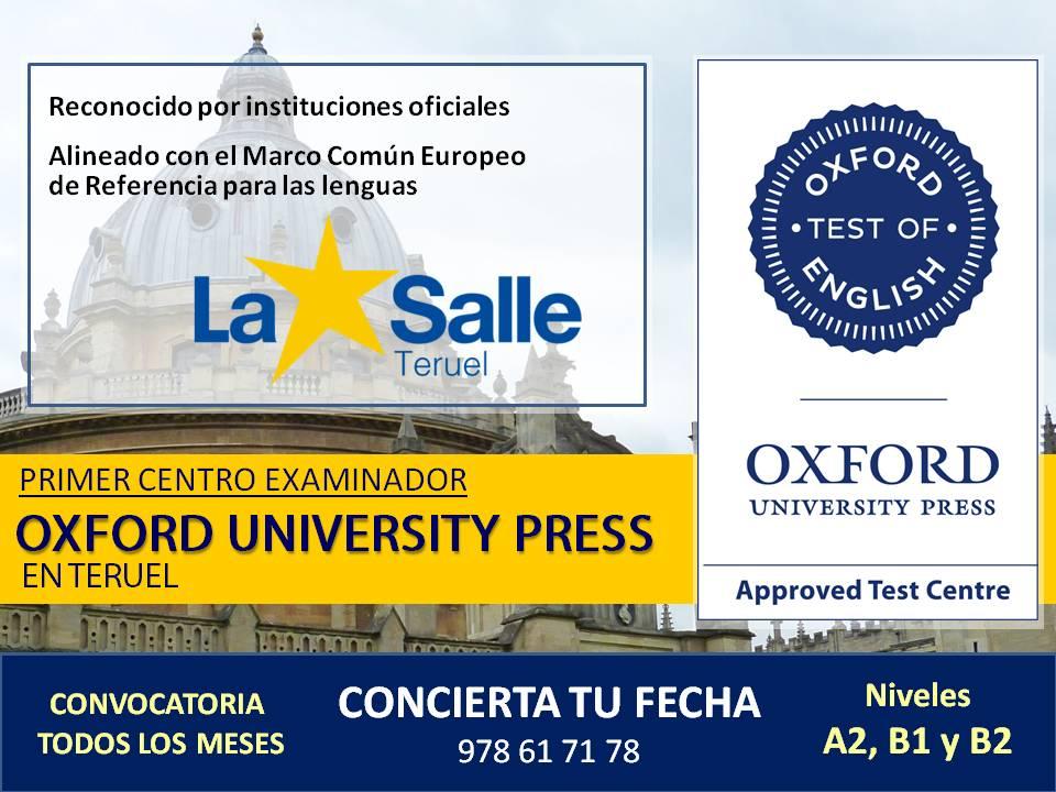 centro examinador Oxford University Press