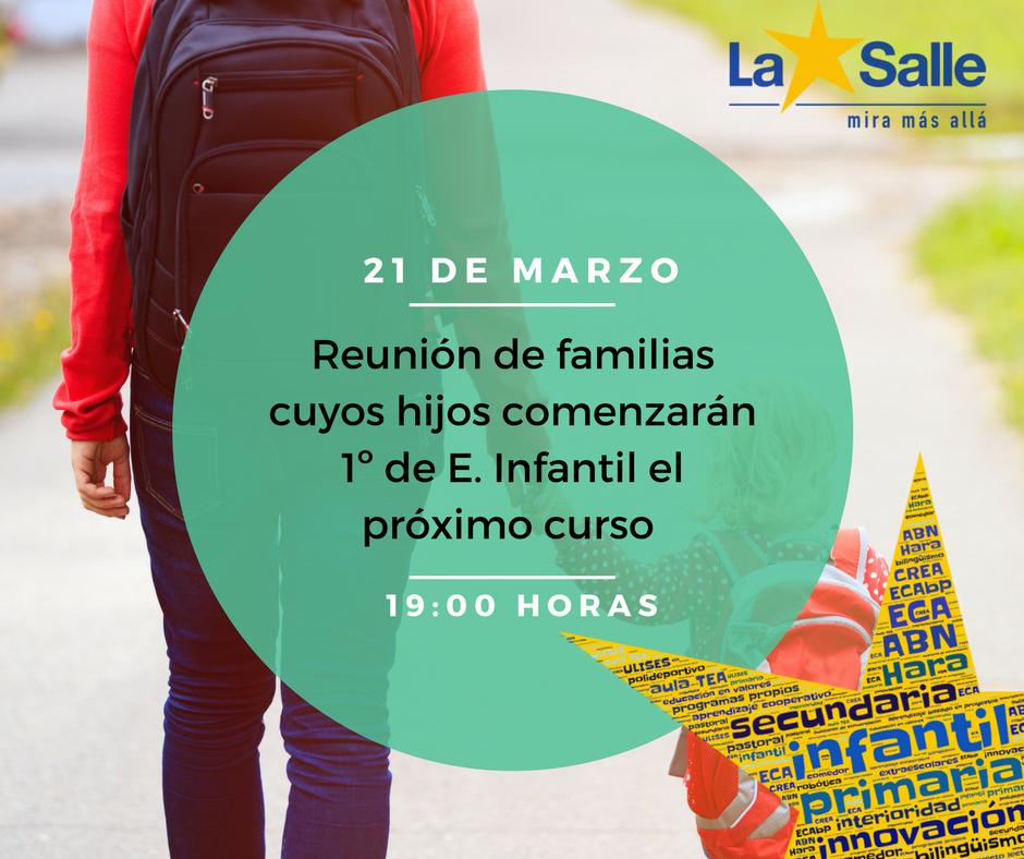 Reunión informativa para familias de alumnos interesados en cursar 1º Infantil ·21 de marzo