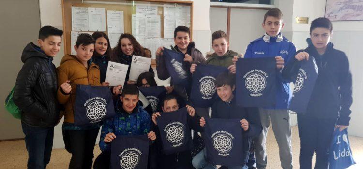 Varios alumnos mostraron sus habilidades matemáticas en la XXVI Olimpiada Matemática Aragonesa
