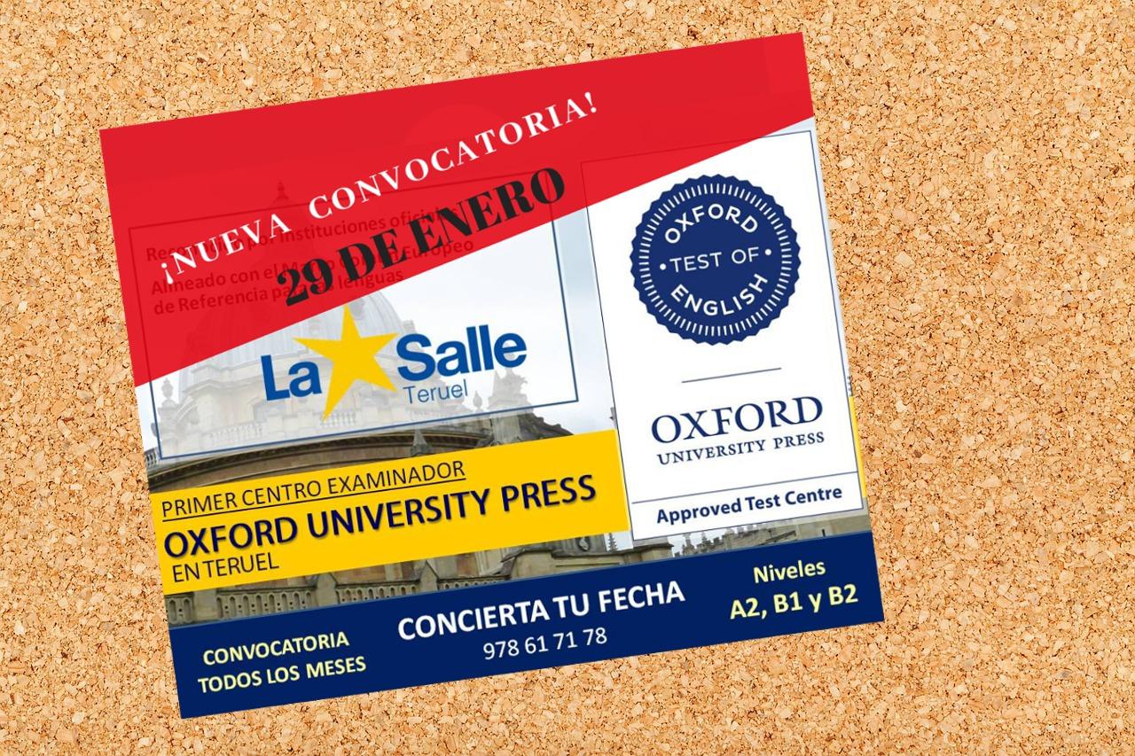 Nueva convocatoria de los exámenes de Oxford-OTE