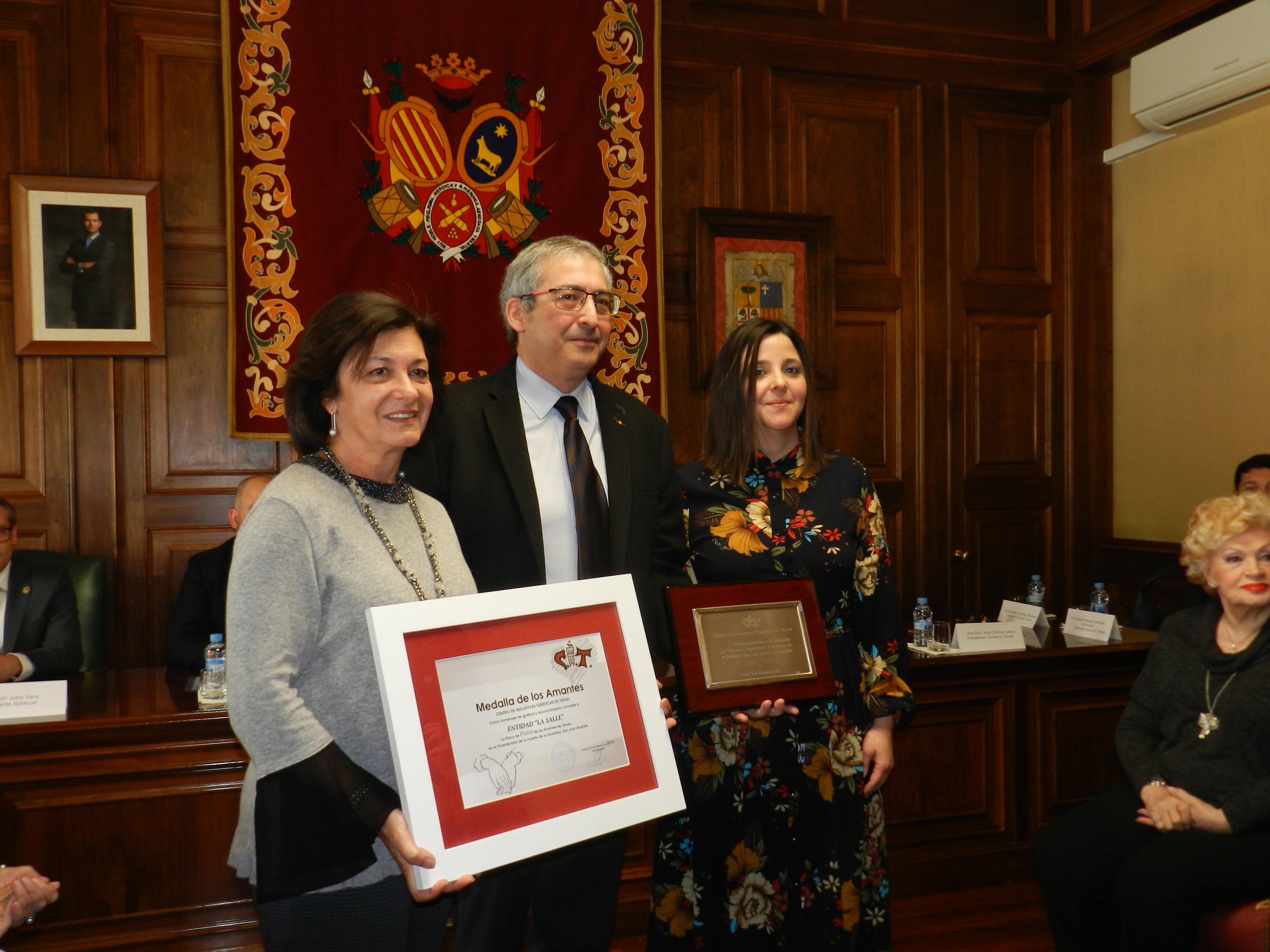 La Salle recibe la Placa de Plata del CITT por el 300 aniversario de la muerte del fundador