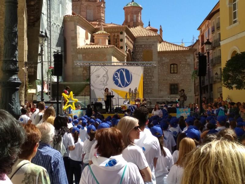Celebración del Tricentenario en la Plaza de la Catedral