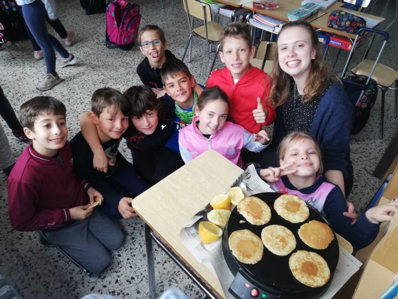 Celebramos Pancake day con nuestros auxiliares de conversación